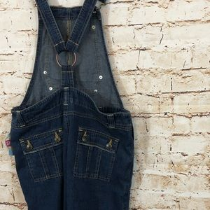 Old Navy Jeans - OLD NAVY Denim Overalls bib small surplus new